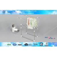 Wholesale Multi-purpose Balcony Folding Clothes Rack , Telescopic Floor Standing Metal Cloth Rack from china suppliers