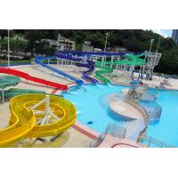 Wholesale Tropical Style Colorful Fiberglass Water Slides Equipment High Speed Customized from china suppliers