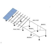 Turnkey Solar Panel Ground Mounting Systems Hot - Galvanized Steel 130mph Wind Load