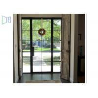 Wholesale Powder Coating Aluminium Casement Door With Decoration Bar Vision from china suppliers