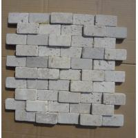 Wholesale China White Travertine Wall Mosaic Natural White Travertine 3D Mosaic Pattern Stone Mosaic from china suppliers
