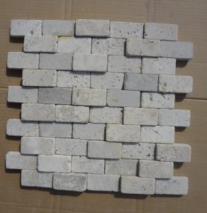 Wholesale China White Travertine Wall Mosaic Natural White Travertine 3D Mosaic Pattern Stone Mosaic from china suppliers
