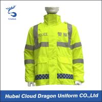 Wholesale Yellow Waterproof Warm Traffic Police Hi Vis Jacket With Reflective Tapes from china suppliers