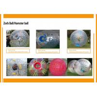 Wholesale Transparent Big Inflatable Zorb Ball ,  Heat - Resistant Human Hamster Ball from china suppliers