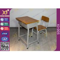 Wholesale Fireproofing Metal Frame Student Desk And Chair Set For Primary School from china suppliers