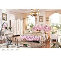 Wholesale 6025;  leather bed, bedroom set,Royal style bedroom furniture,hotel furnitue,bed side table,dresser,Night stand,wardrobe from china suppliers