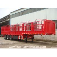 Wholesale 13 Meter Length Flat Bed Semi Trailer with Side Wall / Side Panel Cargo Trailer from china suppliers