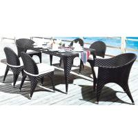 Wholesale PE rattan furniture, wicker garden furniture, outdoor chair, glass table, #1208 from china suppliers
