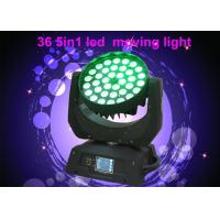 Wholesale DMX RGBW 36 x 10w LED Moving Head Light For Concert / Theatre Stage Lighting from china suppliers
