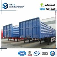 Wholesale 13000 * 2500 * 3000 mm Tri axle Cargo semi flatbed trailers Load Capacity 50 T 60 T from china suppliers