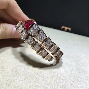 Quality Bvlgari diamond snake Bracelet 18k gold white gold yellow gold rose gold diamond Bracelet for sale