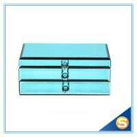 Wholesale Blue Glass Jewelry Box/ Large Mirror Jewelry Box/Wholesale Jewelry Box from china suppliers