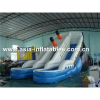 Wholesale Hot Sale Inflatable Water Slide With Pool For Aqua Park Games from china suppliers