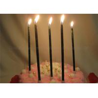 Wholesale Glittery Black Birthday Candles Dark Green Shimmering Powder Glitter Pillar Candles from china suppliers