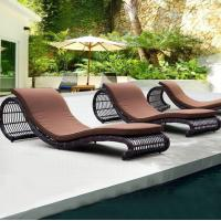 Wholesale Hotel Beach Wicker sun lounge outdoor leisure chair lounge outdoor rattan sun bed swimming pool chaise lounge from china suppliers