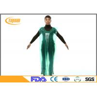 Wholesale PE Disposable Medical Aprons Plastic Gown Without Sleeves For Hospital / Industrial from china suppliers