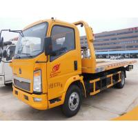 Wholesale 4X2 Small Flatbed Tow Truck 3 Ton 2 Axles 6 Wheels For Sinotruk HOWO CCC Approved from china suppliers