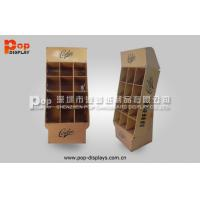 Wholesale Brown Power Wing Cardboard Display Stands With 9 Square Pocket For Notebook from china suppliers