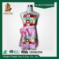 Quality Classical Denim Colorful Soft Home Kitchen Apron 100% Cotton Apron with Lace for sale