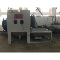 Quality Commercial Mini Turntable Sandblasting Dustless Sandblasting Machine With Movable Cart Manual Operation for sale