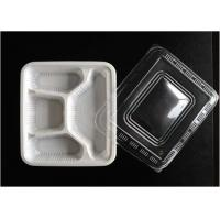 Wholesale White 4 Holes PP Food Tray Heat Resistance For Reducing Transportation Costs from china suppliers