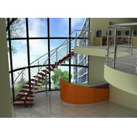 Wholesale Carbon Steel Building Curved Staircase for Apartment / Villas from china suppliers