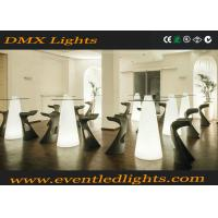 Wholesale Outdoor indoor foldable led cocktail table , lighted bar tables for bistro from china suppliers