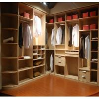 Wholesale Oversized Cloakroom Custom Bedroom Wardrobes , Modern L Shaped Corner Wardrobe from china suppliers