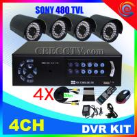 Wholesale 4CH DVR Recorder Megapixel HD waterproof PoE Camera kitCEE-DVR-7004 C938A from china suppliers
