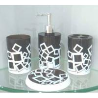 Wholesale Black plastic bathroom set from china suppliers