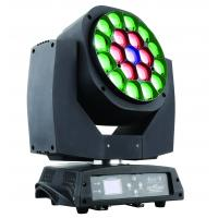 Wholesale Rgbw 19 *1 5W LED Moving Head Light Rotation With Zoom Angle 4 to 60 degree from china suppliers