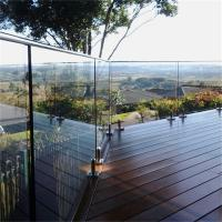 Buy cheap 316 balcony stainless steel railing design with tempered glass from wholesalers