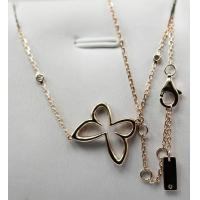 Wholesale Mirror Copy Messika 18K Rose Gold with natural diamonds butterfly necklace KGN000470 from china suppliers