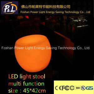 Quality led furniture plastic light stools for sale