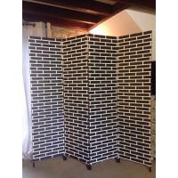 Wholesale Double Paper Rope Decorative Wooden Room Divider Screens Partition Wall from china suppliers