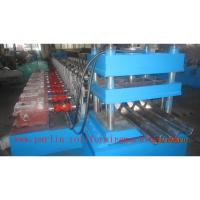 Wholesale PLC Control Crash Barrie Guardrail Roll Forming Machine , Highway Guardrail Making Line from china suppliers
