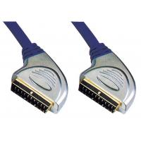 Wholesale High Quality Metal Scart Plug to Scart Plug cabel for Euro DVD Set-top box TV etc from china suppliers