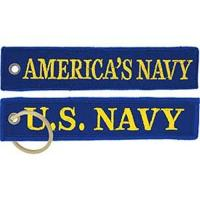 Wholesale Luggage Tag US Navy Americas Navy Embroidery Keychain Strap from china suppliers