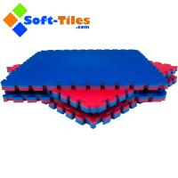 Wholesale Fitness mat 1m*1m wtih double colour and high density EVA foam from china suppliers