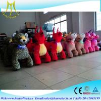 Wholesale Hansel stuffed animal unicorn on wheels amusement park rides for rent animal scooter rideing kids play machine rides from china suppliers