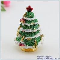 Wholesale Small christmas tree trinket box  keepsakebox, gift, collectibles, decoration SCJ117-2 from china suppliers