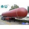 Buy cheap Manual Tri Axle 56CBM Aluminium Alloy LPG Tank Trailer Big Capacity from wholesalers