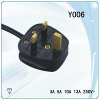 BSI approval 3*0.75-1.5mm^2 detachable electric cable for ikea