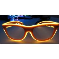 Wholesale High Brightness Orange El Wire Glasses For Party Show With Pc Plastic Frame from china suppliers