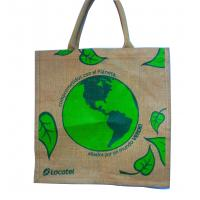 Wholesale Water Proof Paste Green Earth Gunny Bag, Handle Cotton Weaving Reusable Carrier Bags from china suppliers