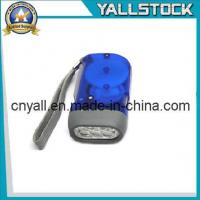 Wholesale No Battery 3 LED Dynamo Crank Wind Flashlight Torch -JA015 from china suppliers