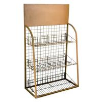 Wholesale Easy Assembly Pet Metal Display Racks For Pets' Apparels With Wood Panel from china suppliers