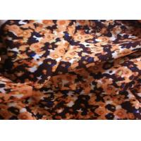 Quality Beautiful Printed Wool Fabric Brown Color For Jacket / Garment for sale