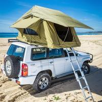 Wholesale Aluminum Pole Pick Up Roof Tent , Jeep Wrangler Unlimited Roof Top Tent from china suppliers