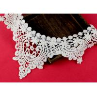 Wholesale Emrbroidered Cotton Collar Applique With Retro Guipure Lace Pattern Custom from china suppliers